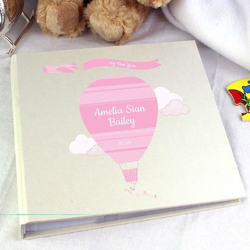 Personalised Up & Away Girls Album with Sleeves